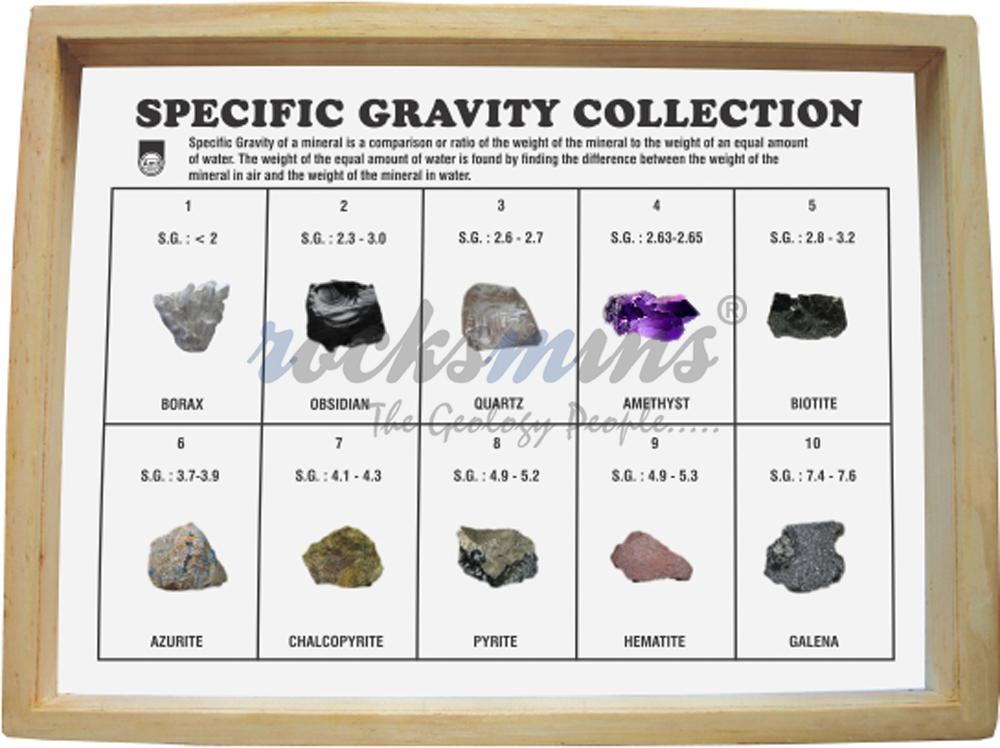 Minerals Specific Gravity Collection Rocksmins
