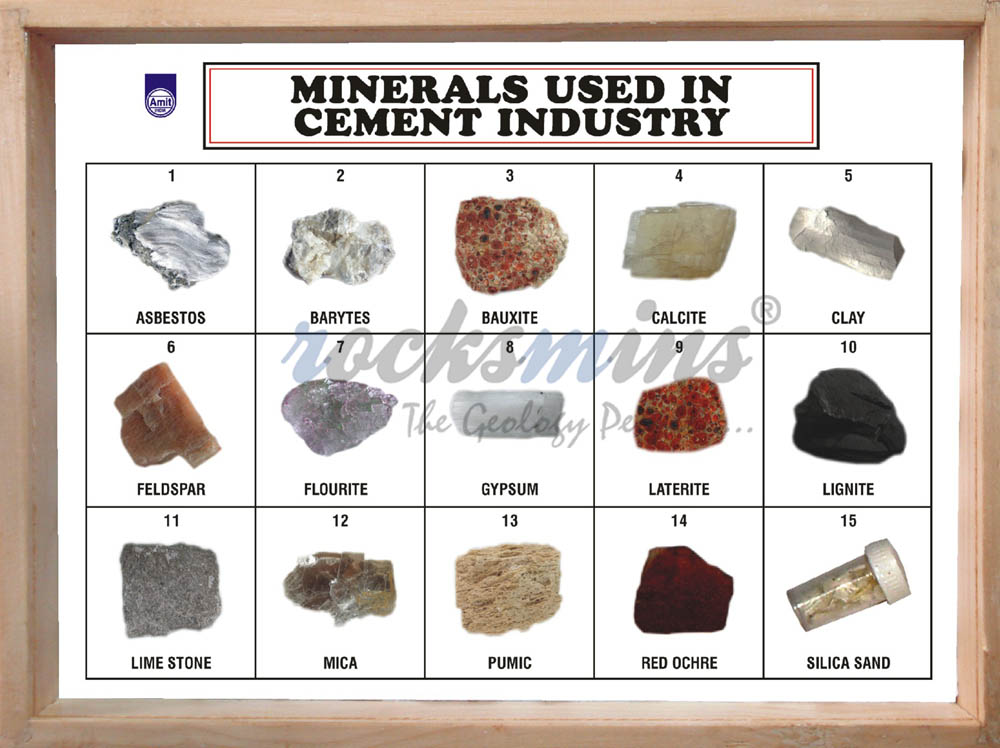minerals used in cement industry set of 15 ce15pm ce15ps rocks