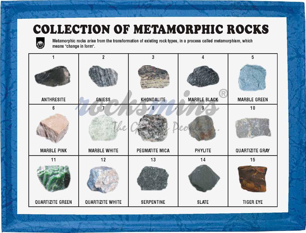 Collection of 15 Metamorphic Rocks Kits Rocksmins Rocks