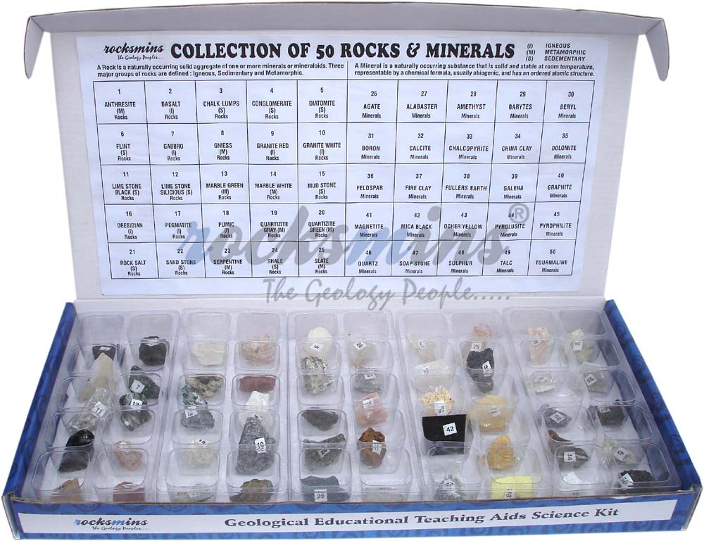 Rocks And Minerals Collection Kit Rocks And Minerals Sample